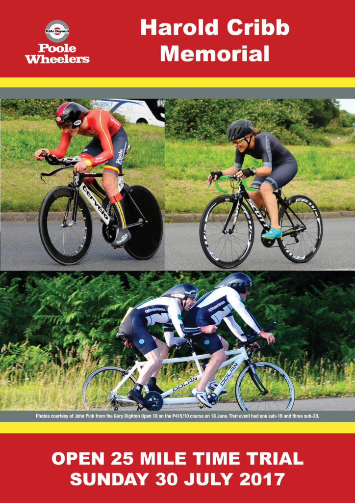 Reminder: Harold Cribb Memorial Open TT on 30th July, sign up closes 18th July